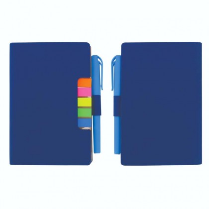 Small Pocket PU Notebook With Pen & Sticky Note