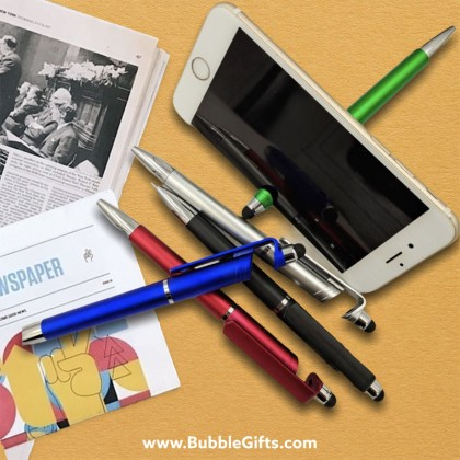 Stylus Plastic Pen with Phone Holder