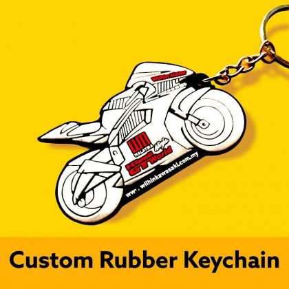 Custom Made Rubber Keychain